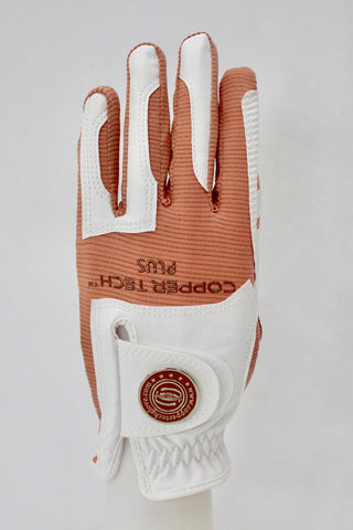 Copper Infused Golf Glove White/Peach