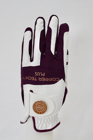 Copper Infused Golf Glove White/Plum