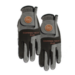 Copper Tech Golf Glove, Black/Grey, 2-Pack (Men)