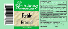 Load image into Gallery viewer, Fertile Ground Herbal Fertility Support Tincture