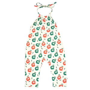 Babysoy Inc - Babysoy Pattern Prints Halter Romper - Apple