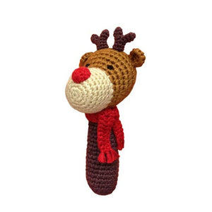 Stick Hand Crocheted Rattle