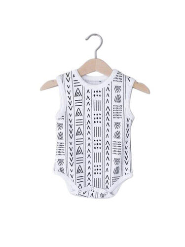 Modern Burlap - Organic Tank Bodysuit *click for options*