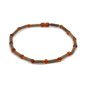 Ecopiggy Baltic Amber & Hazel Wood Necklace