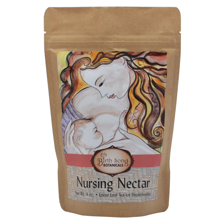 Nursing Nectar Organic Herbal Breastfeeding Tea -Loose Leaf 4 oz.