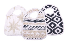 Load image into Gallery viewer, Natural Muslin Cotton Snap Bibs *click for options*