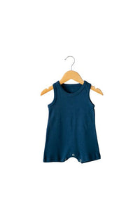 Modern Burlap - Organic Tank Romper *click for options*