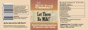 Let There Be Milk! Organic Herbal Breastfeeding Support - Liquid Vegetarian Capsules