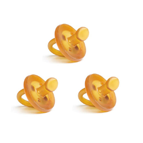 Ecopiggy Ecopacifier 3 Pack Natural Rubber Pacifier Orthodontic - 6M+