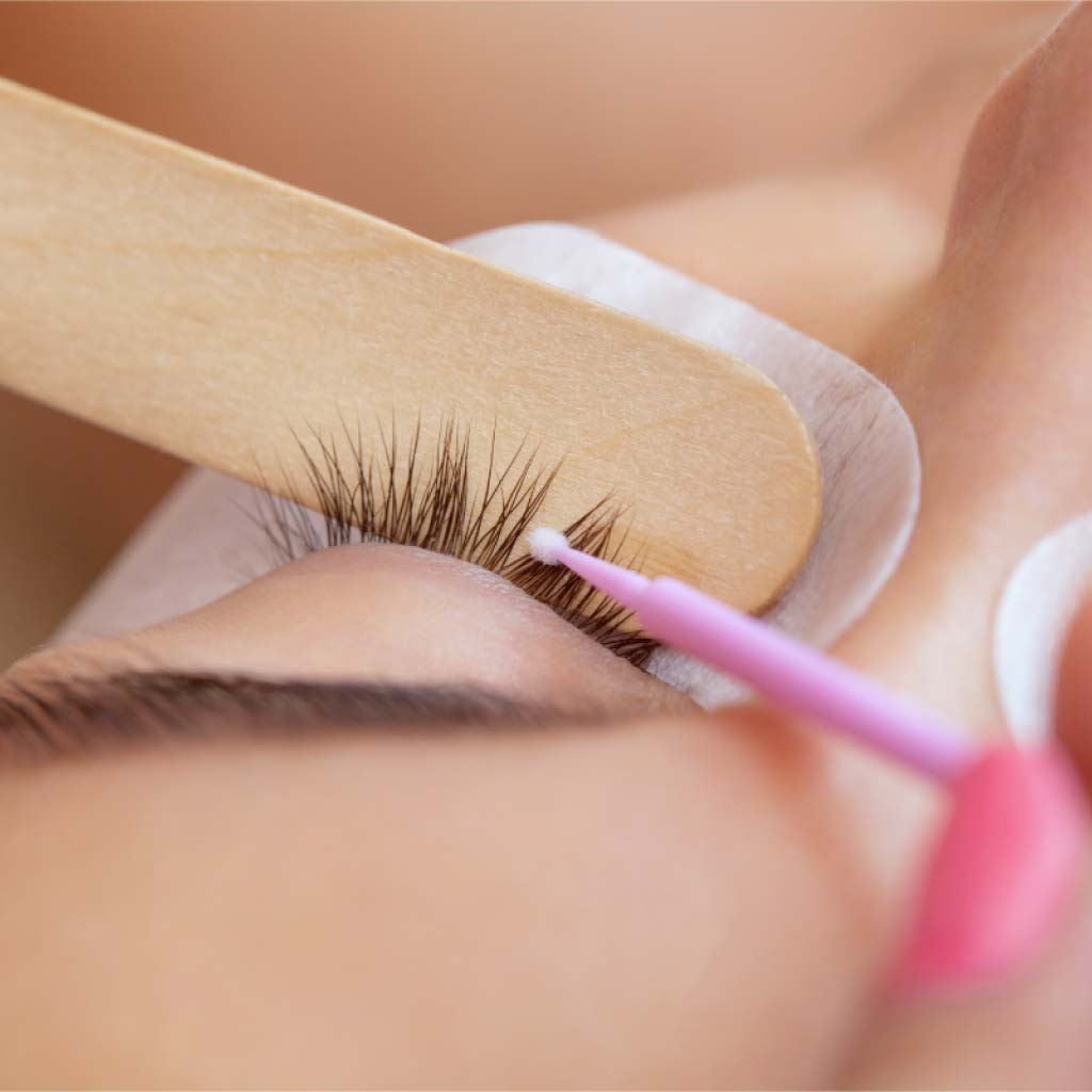 Beau Lashes Eyelash Extension Primer Application Close Up