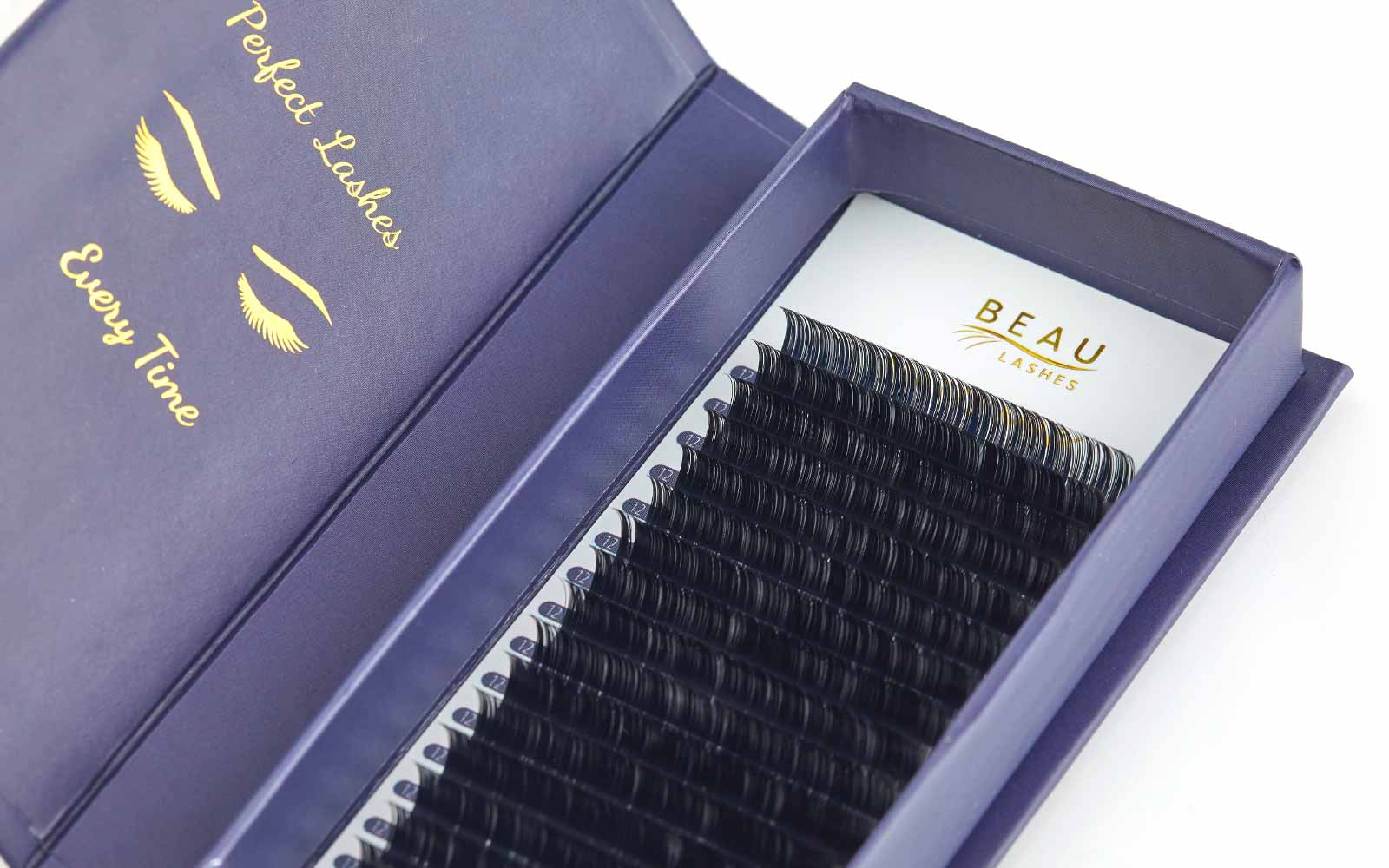Beau Lashes Matte Mink Professional Individual Eyelash Extensions Close Up