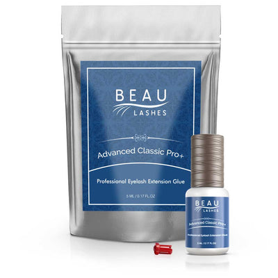Beau Lashes Advanced Classic Pro+ Eyelash Extension Glue Adhesive Bottle With Pouch
