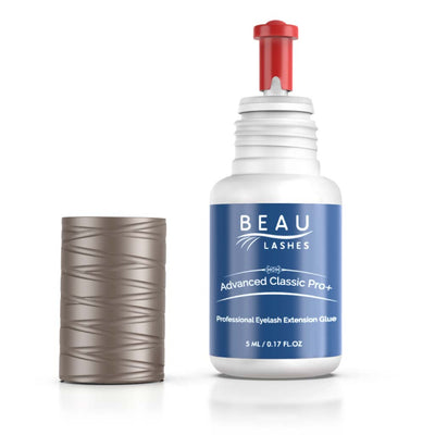 Beau Lashes Advanced Classic Pro+ Eyelash Extension Glue Bottle With Cap Off