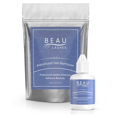 Beau Lashes Advanced Gel Remover Eyelash Extension Remover Bottle With Pouch