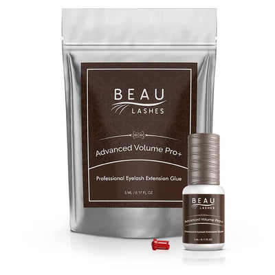 Beau Lashes Advanced Volume Pro+ Eyelash Extension Glue Adhesive Bottle With Pouch