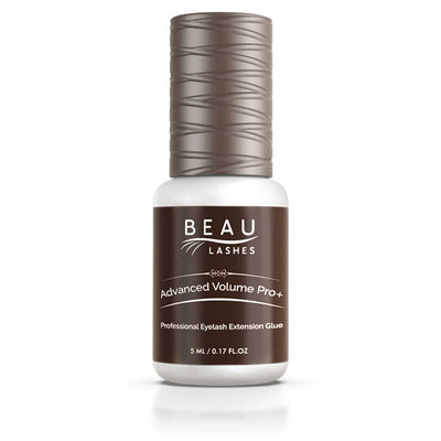 Beau Lashes Advanced Volume Pro+ Eyelash Extension Glue Front Of Adhesive Bottle