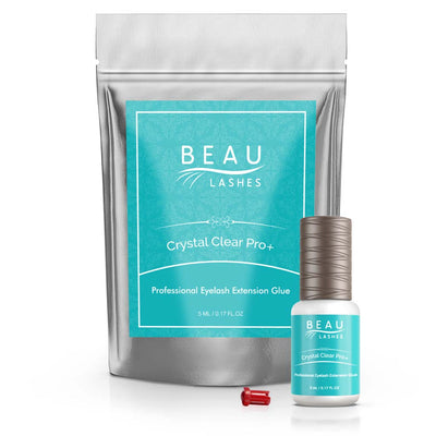 Beau Lashes Crystal Clear Pro+ Eyelash Extension Glue Adhesive Bottle With Pouch