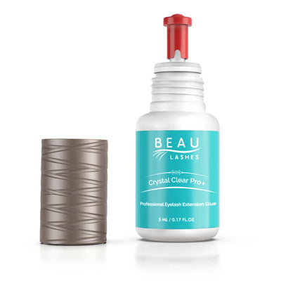 Beau Lashes Crystal Clear Pro+ Eyelash Extension Glue Bottle With Cap Off