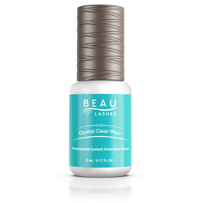 Beau Lashes Crystal Clear Pro+ Eyelash Extension Glue Front Of Adhesive Bottle