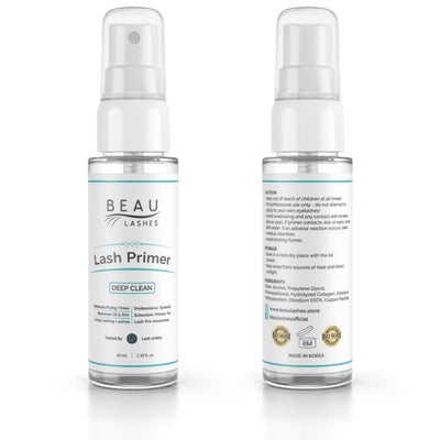 Beau Lashes Eyelash Extension Lash Primer Bottle Front And Back