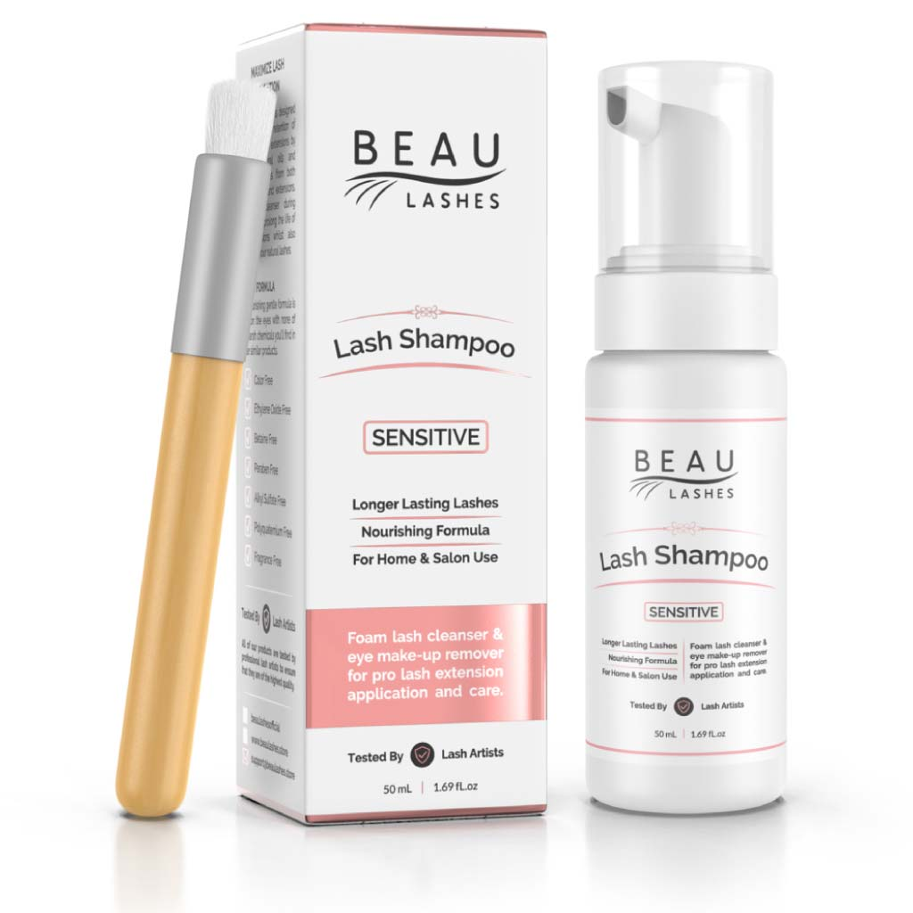 Eyelash Extension Cleanser Sensitive Shampoo | Beau Lashes