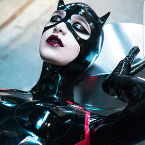 Latex Cat Woman Mask - BIZARRE FETISH COUTURE