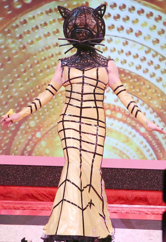Gold Cage Latex Gown