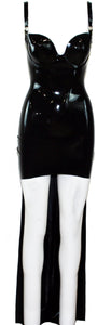 Black Train Latex Dress
