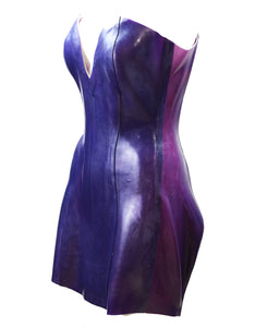 Custom Hand Poured Amethyst Tulip Corset Dress