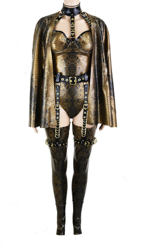 Antique Gold Snake Latex Look