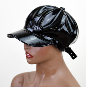 Black Latex Baseball Cap