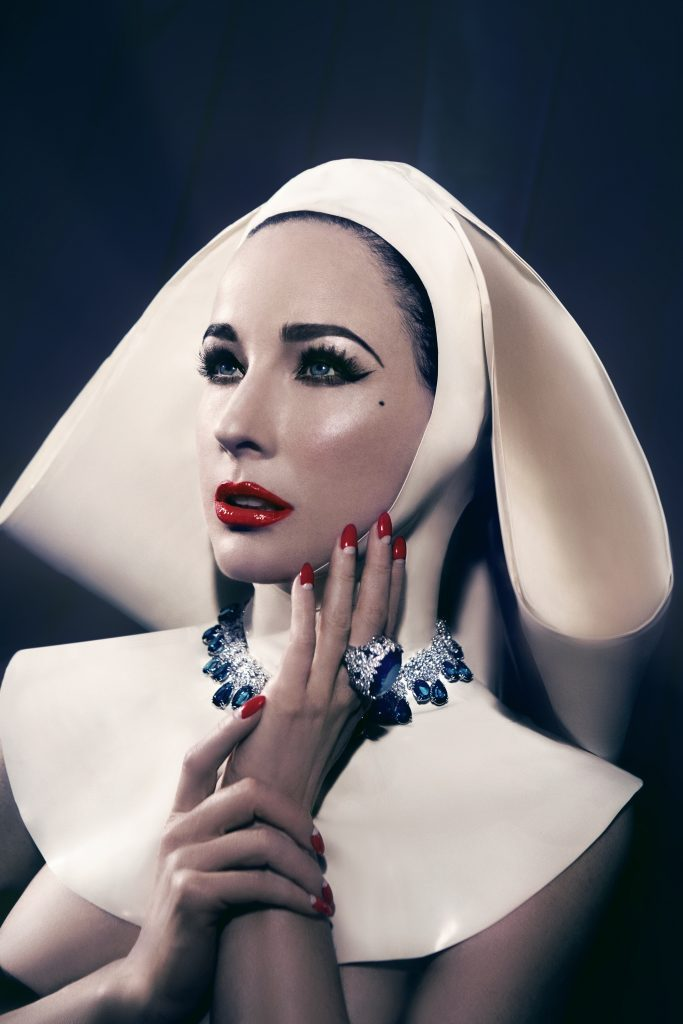 Latex Nun Habit w/ Neck Corset