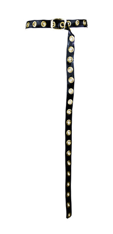Black & Gold Latex Ninja Belt