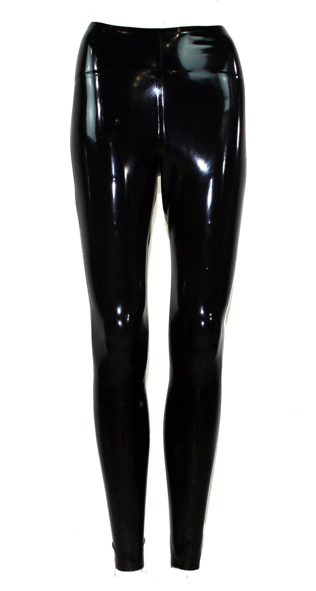 Plain Black Latex Leggings