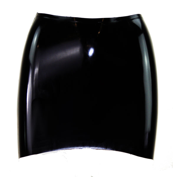 Plain Latex Mini Skirt