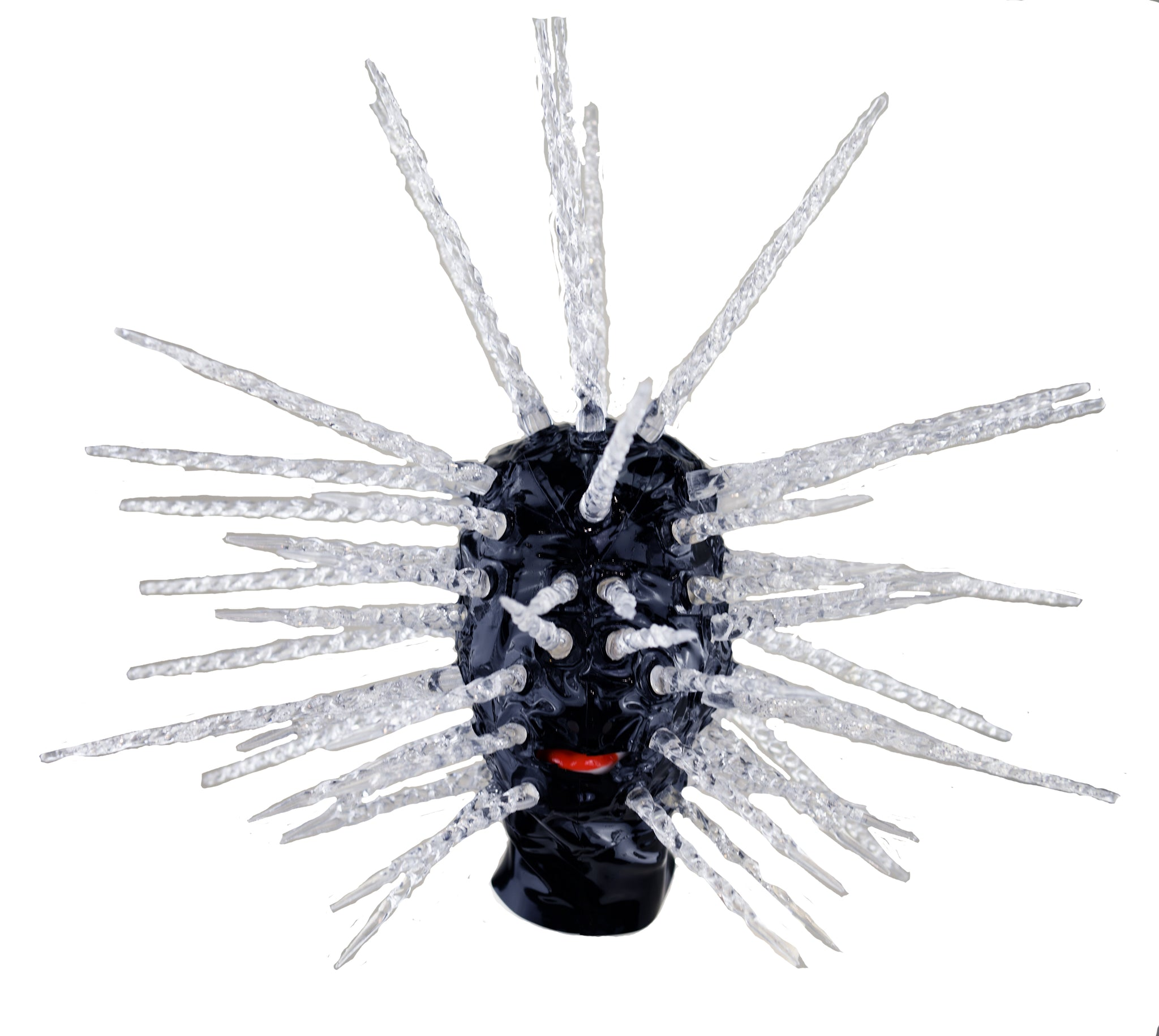 Black Crystal Pinhead Latex Mask