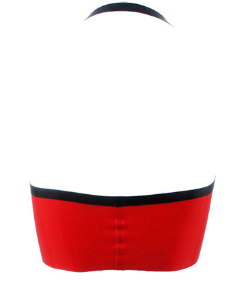 The Red & Black Bowling Alley Latex Halter Bra