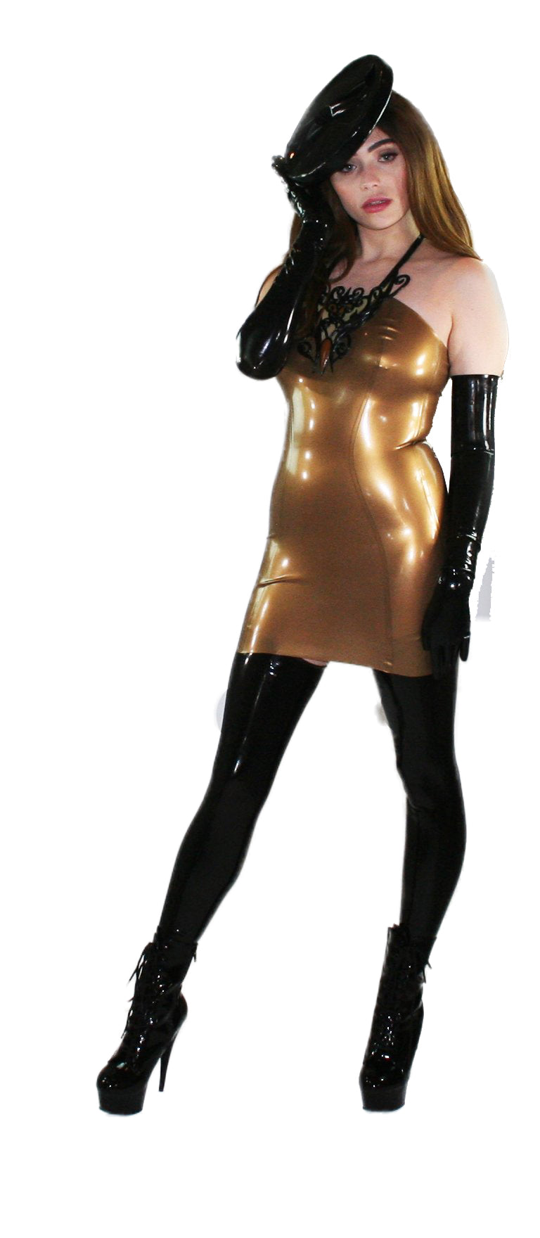 Stirrup Latex Stockings