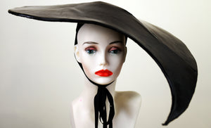 Black Tear Drop Latex Hat