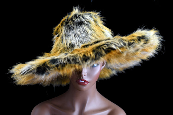 Blonde & Black Fur Bucket Hat