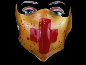 Blood Splatter Latex Nose & Mouth Face Mask