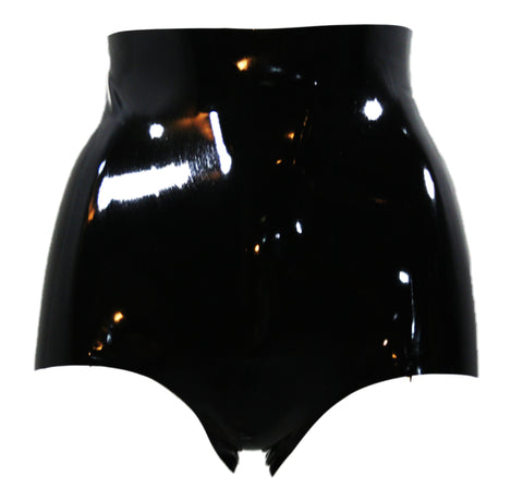 High Waisted Latex Booty Shorts