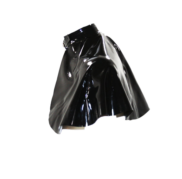 The Latex Neck Buckle Capelet