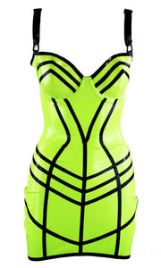 Latex Cage Mini Dress