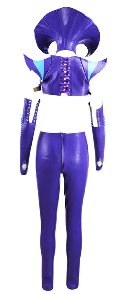 Purple & Turquoise Cairo Latex Look