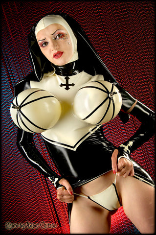 The Inflatable Latex Nun w/ Atomic Missiles Outfit