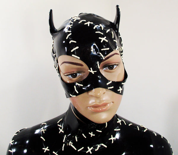 Latex Cat Woman Mask
