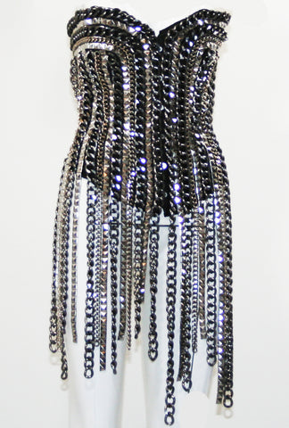 Chain Link Bondage Corset Dress