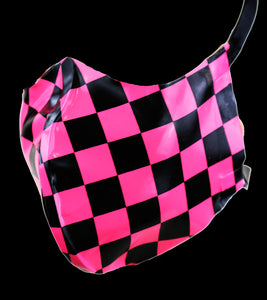 Checkerboard Print Latex Nose & Mouth Face Mask