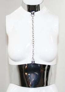 The Chrome Bondage Collar & Belt